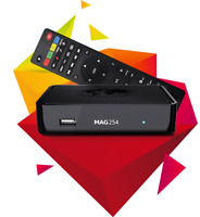 MAG254W1/ W2 BOX WITH IPTV SUBCRIPTION AS LOW AS $5 PER MONTH