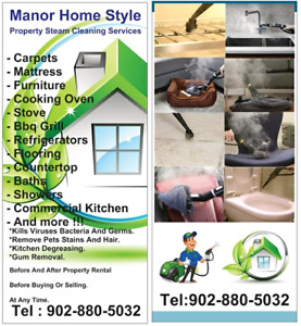 Manor Home Style cleaning and steam cleaning services