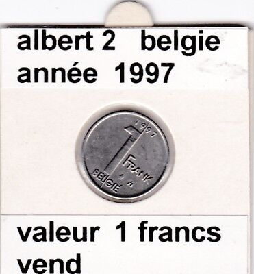 FB )pieces de albert 2  1 francs 1997  belgie