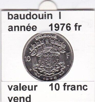 FB 2 )pieces de baudouin  10 francs 1976  belgique