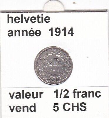 S 2) pieces suisse de 1/2 franc 1914  argent  voir description