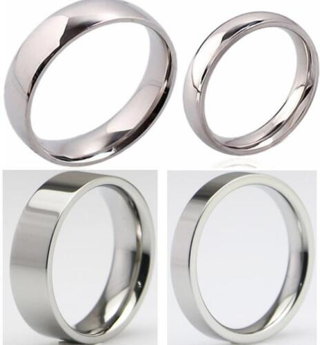 Wholesale100pcs Mix 4mm 6mm Silver Polish Stainless Steel RING Wedding Band Ring