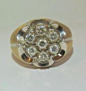 Man's Diamond Pinky Ring Yellow Gold