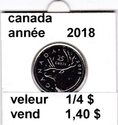 C1 )pieces de 25 cent canada   2018