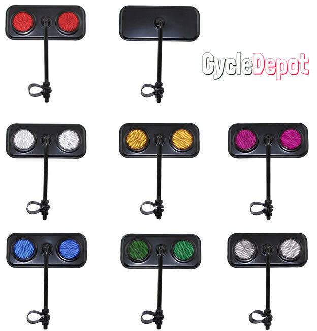 NEW!! Black Rectangle Rear View Bicycle Mirror Reflector Cru
