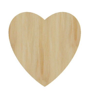 Laser Cut Out Wood Heart Wood Shape Craft Supply Unfinished Valentine's Day Love