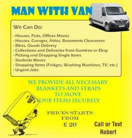 Man with Van, Removals, Clearance, Transport, House Moves, Flat Moves, Man and Van