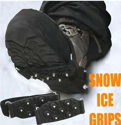 UNISEX OVER THE SHOE SNOW AND ICE GRIPS SPIKES SNOW CLEATS GRIPPERS CRAMPONS