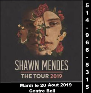 Shawn Mendes, 20/08/2019, Centre Bell, Parterre, Rouge
