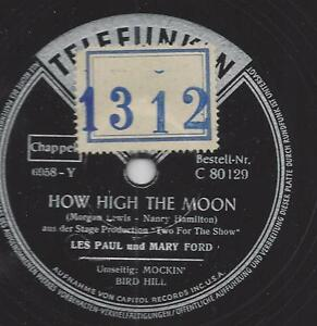 les paul mary ford how high the moon ebay. Black Bedroom Furniture Sets. Home Design Ideas