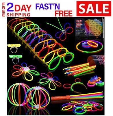 LED Light Up Party 500 PCs Glow Sticks Favors Bulk Glow in the Dark Party 8'' (Dark Light Party)