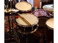 Drum Workshop design series nickel over brass snare drum, mint condition. CHEAP!!