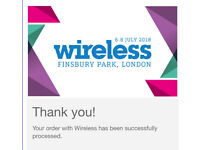 Wireless Festival Tickets Sunday 8th July 2018 SOLD OUT