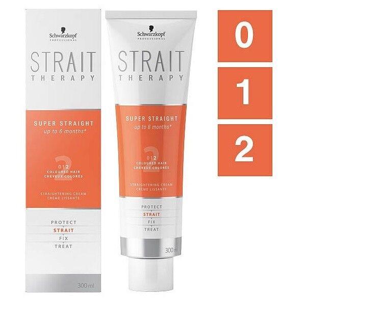 Schwarzkopf Strait Therapy Haarglättungscreme 300ml Strait 0 / 1/ 2