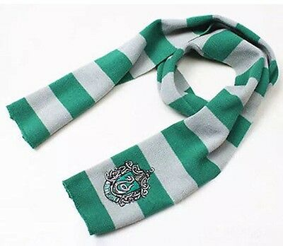 Harry Potter Slytherin Scarf Green & Silver Costume Knit Wool 63