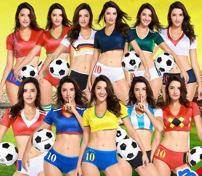 Football Cheerleader Uniform Costume World Cup World Championship Nation - World Cup Costume
