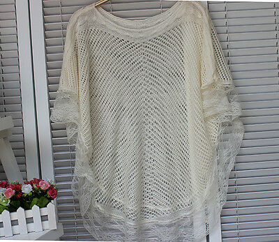 Top Netting (New Lace Top FishNet Shirt Netting Blouse Short Sleeve One size fits all )