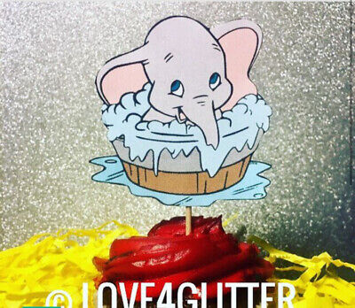 12 DUMBO Baby Shower 1st Birthday Party CUPCAKE TOPPERS Picks  Supplies elephant