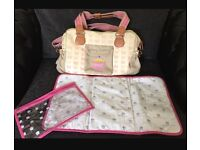 Pink butterfly yummy mummy bag