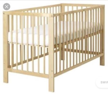 Ikea Gulliver Cot Birch Plus Accessories Bundle With Toddler Bed Rail