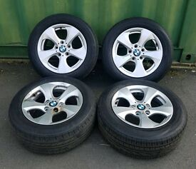 "GENUINE BLE 16"" ALLOY WHEELS & TYRES USED FIT 3 SERIES E46 E90 F30"