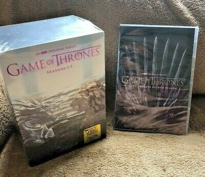 GAME OF THRONES COMPLETE SERIES SEASONS 1-8 (DVD, 34-Disc Boxed Set) SEALED