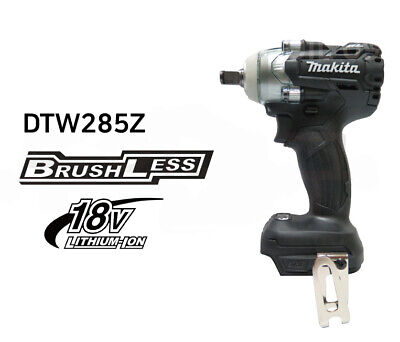 Makita Black Dtw285b 18v Cordless Brushless Impact Wrench Body Onlybare Tool