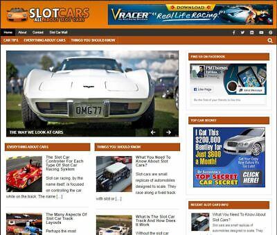 Slot Cars Automobile - Established Profitable Turnkey Wordpress Website For Sale