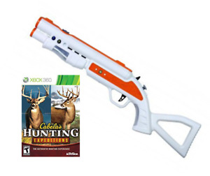 XBOX360 Top Shot Fearmaster Gun+Cabela's hunting expedition game