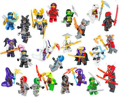 Lego Ninja Kai (Lot/24Pcs Ninjago Ninja Movie MR.E Garmadon Kai Zane SENSEI WU Minifigure)
