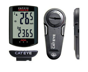 CatEye Strada Slim Wireless - 8 Function Bike Computer - Black
