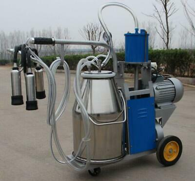 Ce Electric Piston Milking Machine For Cows Farm 25l Bucket Easy Move Durable