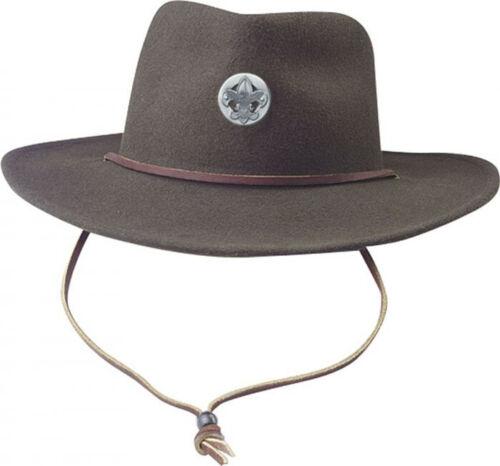 Boy Scout Brimmed Hat w Universal Emblem Hat pin Mens Size Large Brand New BSA