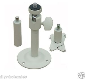 CCTV-Security-Camera-Tilt-Wall-Ceiling-Mount-Steel-Bracket-White-New