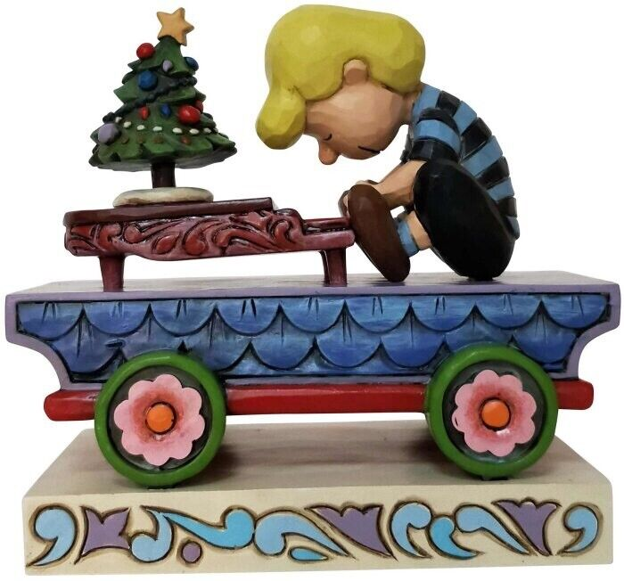 Jim Shore Peanuts SCHROEDER PIANO Stone Resin Figurine Train Car Snoopy 6003028