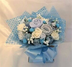 Baby Clothes Bouquet Gift Baby Shower New Mum Nappy Cake  BOY GIRL UNISEX