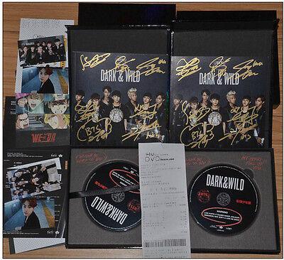 Signed BTS Bangtan Boys Album DARK&WILD CD+Booklet+card Hand Autograph official