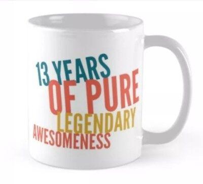 13 13th Birthday small gift idea coffee mug mugs Card alternative - 13th Birthday Ideas