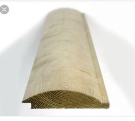 Log lap timber cladding
