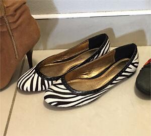 As new David Lawrence pony hair zebra print ballet flat shoes size 37 Randwick Eastern Suburbs Preview