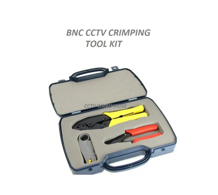 CCTV BNC CRIMPING TOOL KIT - STRIPPER, CUTTER, CRIMPER