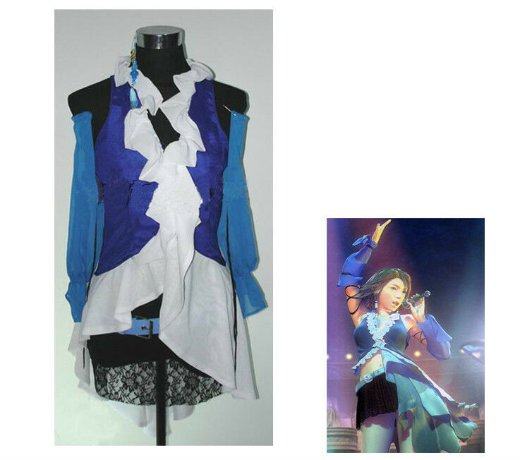 Complete Final Fantasy X-2 Yuna and Lenne Songstress Cosplay Halloween SIZE S