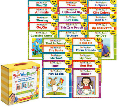 Sight Word Readers Box Set Learning First 50 Sight Words 26 Mini - Learning Sight Words