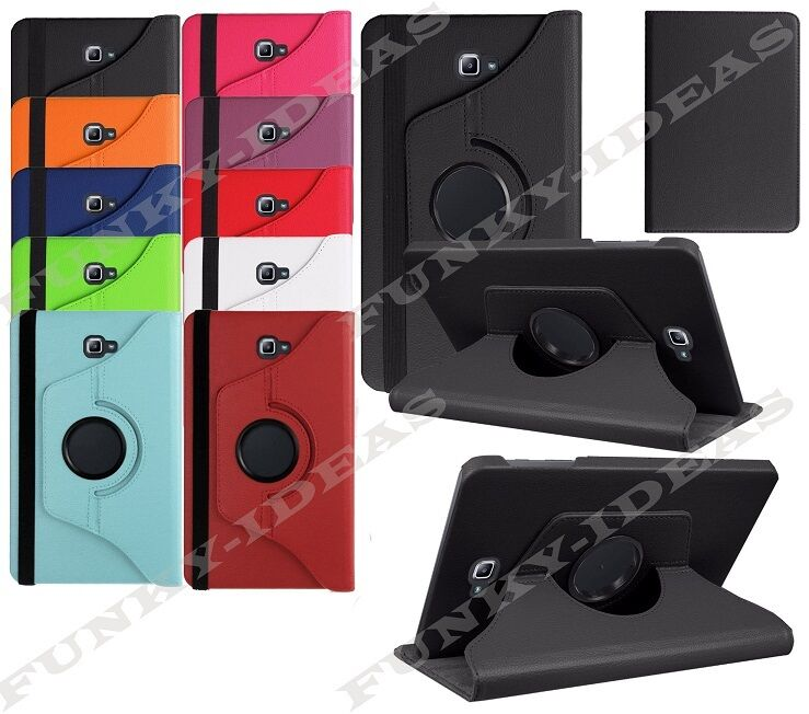 360 Rotation Leather Case Stand Cover For Samsung Galaxy Tab A 10.1