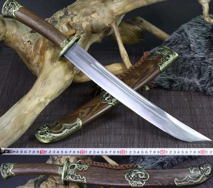 1095 Carbon Steel Rosewood sheath Dragon Dao Chinese Broadsword short 小清刀 Sword