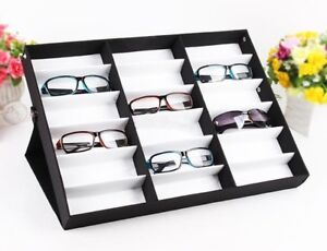 18 Grid Eye Glasses Case Eyewear Sunglasses Display Storage Box Holder  Organizer
