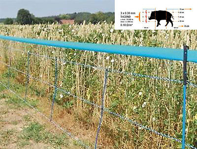 Unmissable Net for Wild Boars Electric 50 cm with Pegs 75 cm Frightens
