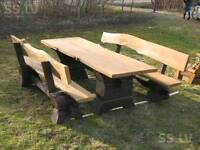 Garden table with benches, pub table