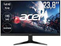 """ACER - Nitro QG241Ybii Full HD 23.8"""" VA LCD Gaming Monitor - Black"""