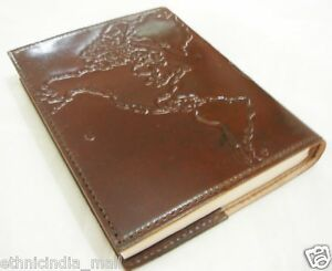 Handmade Leather Travel Journal Diary Refillable Vintage Traveler's Notebook 5X7